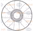 Fan wheel, engine cooling 8MV 376 907-211 HELLA — only new parts