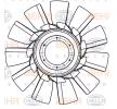 8MV 376 907-301 HELLA Lüfterrad, Motorkühlung für FAP online bestellen