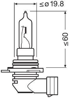 Buy original Fog lamp bulb OSRAM 9012CBI