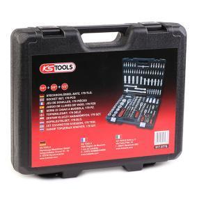 917.0779 KS TOOLS cantidad de herramientas: 179, hexagonal, Acero cromo-vanadio, con función de trinquete, cuadrado Kit de llaves de cubo 917.0779 a buen precio