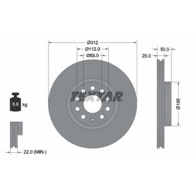 92120505 Disco de freno TEXTAR - Productos de marca económicos