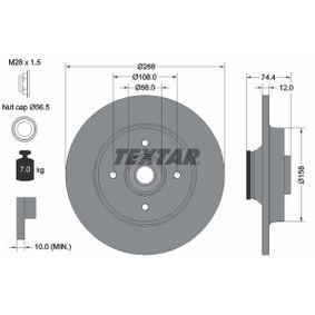 98200168701PRO TEXTAR PRO Voll, beschichtet, mit Radlager, mit integriertem magnetischen Sensorring Ø: 268mm, Bremsscheibendicke: 12,0mm Bremsscheibe 92168703 günstig kaufen