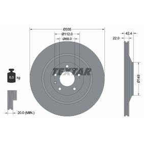 98200177001PRO TEXTAR PRO+ außenbelüftet, beschichtet, hochgekohlt, ohne Radnabe, ohne Radbefestigungsbolzen Ø: 335mm, Bremsscheibendicke: 22,0mm Bremsscheibe 92177005 günstig kaufen