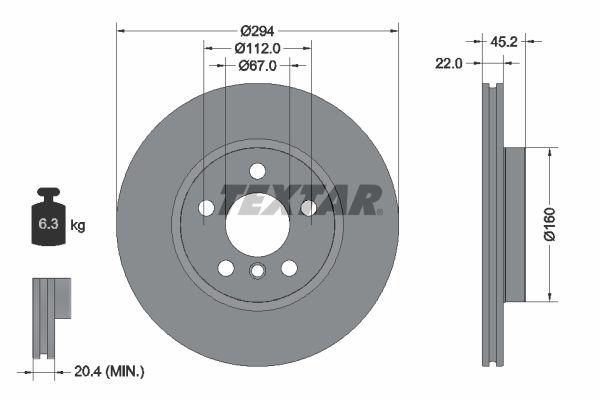 Bremseskive 92273103 til BMW X2 med rabatt — kjøp nå!