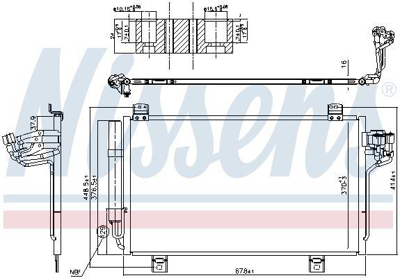 MAZDA CX-3 2021 Klimakühler - Original NISSENS 940775 Kältemittel: R 134a