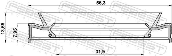 FEBEST | Wellendichtring, Automatikgetriebe 95HEY-33560814C