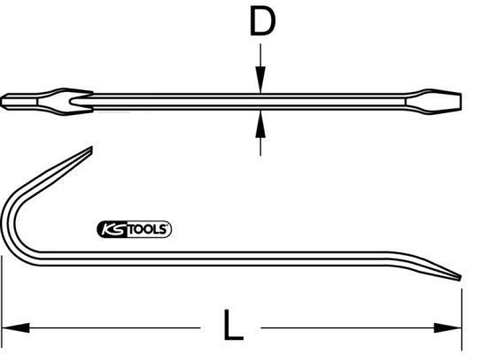 963.9707 Kofot / bräckjärn KS TOOLS - Billiga märkesvaror