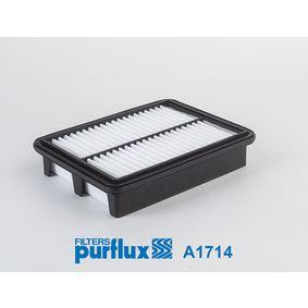 A1714 PURFLUX Länge: 226mm, Breite: 175mm, Höhe: 45mm Luftfilter A1714 günstig kaufen