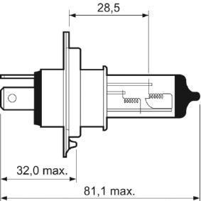 032007 Glühlampe, Fernscheinwerfer VALEO in Original Qualität