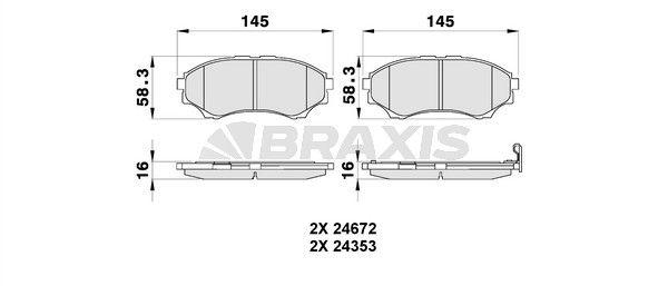 BRAXIS Bremsbelagsatz, Scheibenbremse AB0178