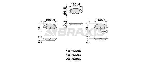BRAXIS Brake Pad Set, disc brake AB0313