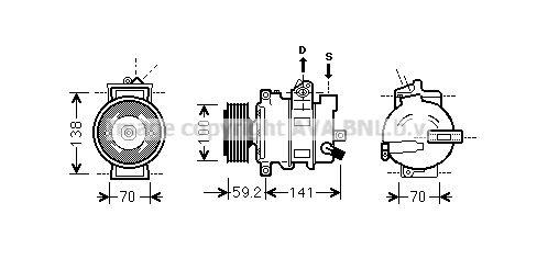 Kompressor Klimaanlage PRASCO AIAK329