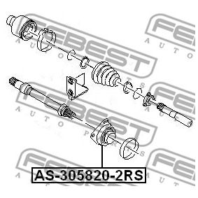 AS3058202RS Drivaxellager FEBEST AS-305820-2RS Stor urvalssektion — enorma rabatter
