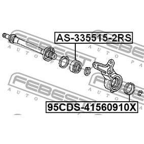 AS3355152RS Drivaxellager FEBEST AS-335515-2RS Stor urvalssektion — enorma rabatter