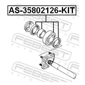 AS35802126KIT Drivaxellager FEBEST AS-35802126-KIT Stor urvalssektion — enorma rabatter