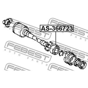 AS366723 Drivaxellager FEBEST AS-366723 Stor urvalssektion — enorma rabatter