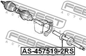 FEBEST   Lager, Antriebswelle AS-457519-2RS