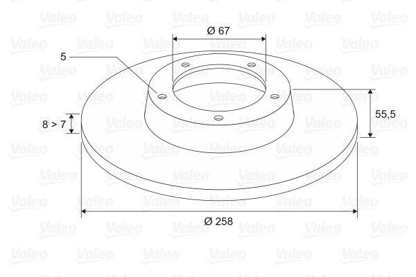 VALEO | Stabdžių diskas 186760
