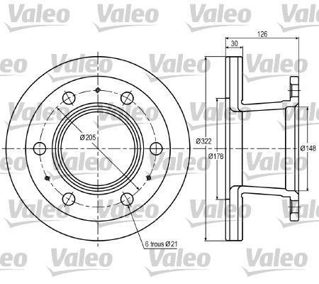 Disco freno VALEO 187002 per FORD: acquisti online