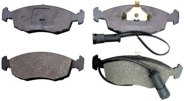 B110226 DENCKERMANN Vorderachse Höhe: 52,5mm, Dicke/Stärke: 17,5mm Bremsbelagsatz, Scheibenbremse B110226 günstig kaufen