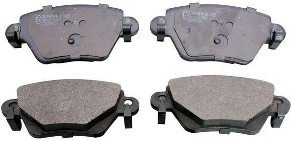 B110228 DENCKERMANN Hinterachse Höhe: 52mm, Dicke/Stärke: 15,9mm Bremsbelagsatz, Scheibenbremse B110228 günstig kaufen