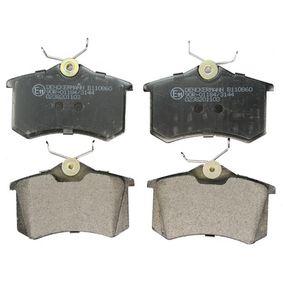 B110860 DENCKERMANN Hinterachse Höhe: 52,8mm, Dicke/Stärke: 16,8mm Bremsbelagsatz, Scheibenbremse B110860 günstig kaufen