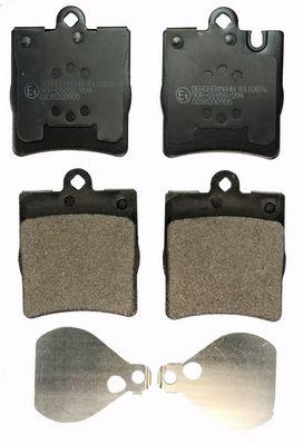 B110876 DENCKERMANN Hinterachse Höhe: 78,2mm, Dicke/Stärke: 14,2mm Bremsbelagsatz, Scheibenbremse B110876 günstig kaufen