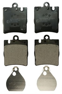 B110877 DENCKERMANN Hinterachse Höhe: 78,2mm, Dicke/Stärke: 15,3mm Bremsbelagsatz, Scheibenbremse B110877 günstig kaufen