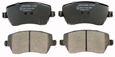 B110927 DENCKERMANN Vorderachse Höhe: 52,6mm, Dicke/Stärke: 16,9mm Bremsbelagsatz, Scheibenbremse B110927 günstig kaufen