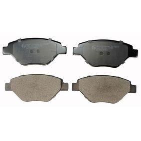 B110928 DENCKERMANN Vorderachse Höhe: 54,3mm, Dicke/Stärke: 17,7mm Bremsbelagsatz, Scheibenbremse B110928 günstig kaufen