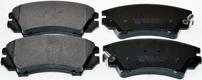 B111014 DENCKERMANN Vorderachse Höhe: 66,7mm, Dicke/Stärke: 19,1mm Bremsbelagsatz, Scheibenbremse B111014 günstig kaufen