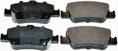 B111016 DENCKERMANN Hinterachse Höhe: 45,9mm, Dicke/Stärke: 16mm Bremsbelagsatz, Scheibenbremse B111016 günstig kaufen