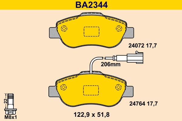 Bremsbeläge Barum BA2344