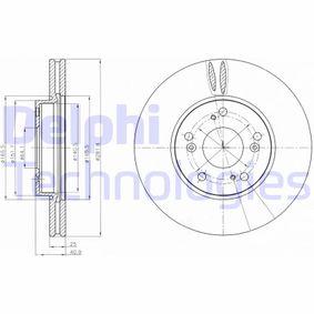 BG4186C DELPHI belüftet, beschichtet Ø: 282mm, Lochanzahl: 5, Bremsscheibendicke: 25mm Bremsscheibe BG4186C günstig kaufen