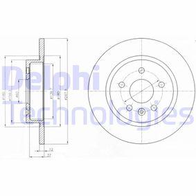 BG4199C DELPHI Voll, beschichtet Ø: 268mm, Lochanzahl: 5, Bremsscheibendicke: 12mm Bremsscheibe BG4199C günstig kaufen
