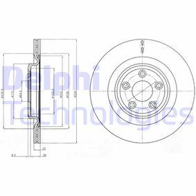 BG4202C DELPHI belüftet, beschichtet Ø: 326mm, Lochanzahl: 5, Bremsscheibendicke: 20mm Bremsscheibe BG4202C günstig kaufen