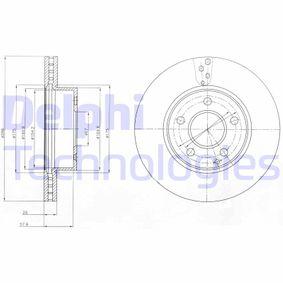 BG4227C DELPHI belüftet, beschichtet Ø: 288mm, Lochanzahl: 5, Bremsscheibendicke: 25mm Bremsscheibe BG4227C günstig kaufen