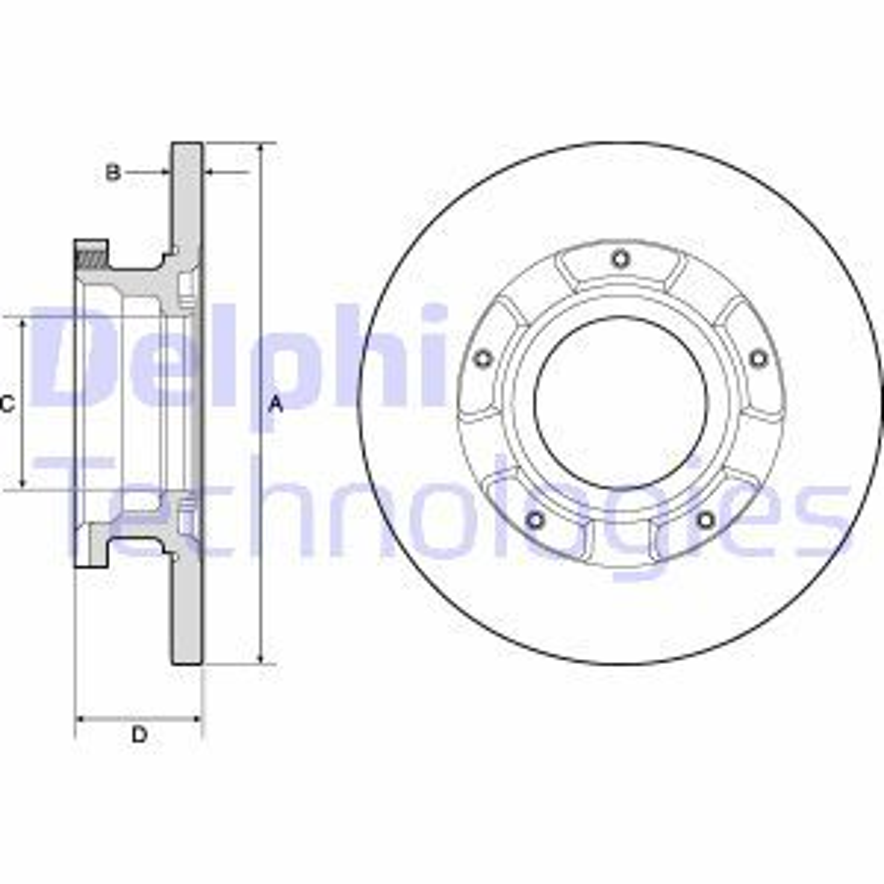 BG4673 DELPHI Voll, unbehandelt Ø: 288mm, Bremsscheibendicke: 16mm Bremsscheibe BG4673 günstig kaufen