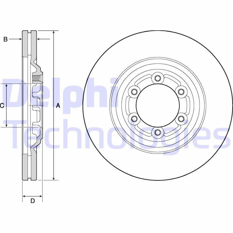 DELPHI: Original Bremsscheiben BG4697C (Ø: 300mm, Bremsscheibendicke: 27mm)