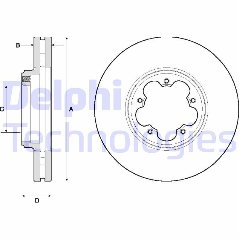 DELPHI Bremsscheibe BG9150