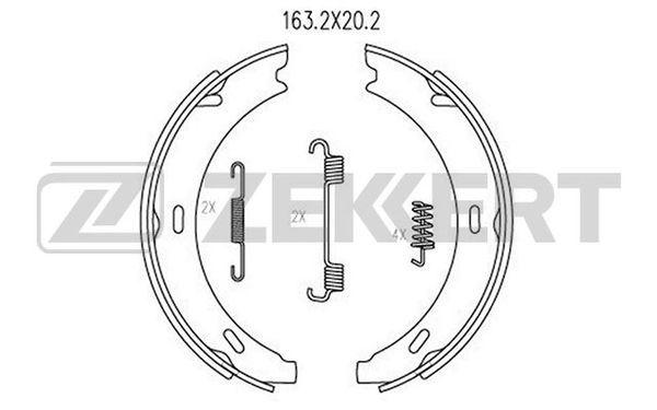 MERCEDES-BENZ CLC 2008 Bremsbacken für Trommelbremse - Original ZEKKERT BK-4126 Breite: 20,2mm