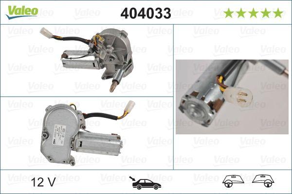 Iegādāties VALEO Stikla tīrītāju motors 404033 kravas auto