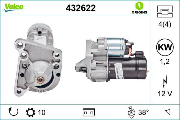 ND156 VALEO 12V, Zähnez.: 10, 1,2kW Starter 432622 günstig kaufen