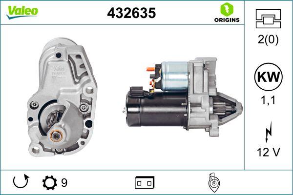Motor de arranque 432635 a un precio bajo, ¡comprar ahora!