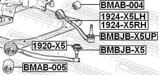 FEBEST | Reparatursatz, Trag- / Führungsgelenk BMBJB-X5