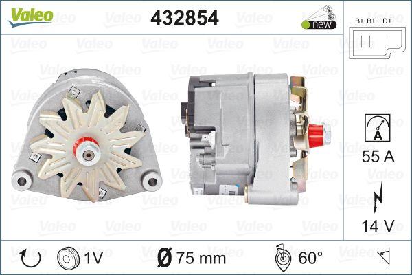 Lichtmaschine VALEO 432854 mit 18% Rabatt kaufen