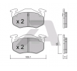 Bremsbelagsatz, Scheibenbremse BPCI-2001 — aktuelle Top OE 4254 42 Ersatzteile-Angebote