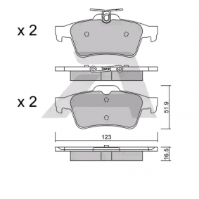 BPCI-2002 AISIN nicht für Verschleißwarnanzeiger vorbereitet Höhe: 51,9mm, Breite: 123mm, Dicke/Stärke: 16,5mm Bremsbelagsatz, Scheibenbremse BPCI-2002 günstig kaufen
