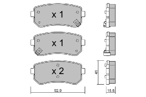 OE Original Bremsbelagsatz Scheibenbremse BPHY-2002 AISIN
