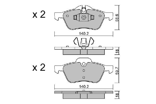 Bremsbelagsatz Scheibenbremse AISIN BPMB-1010